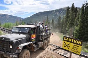 truck crossing rr